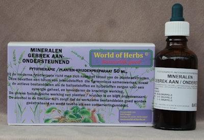 MINERALEN GEBREK; ONDERSTEUNEND FYTOTHERAPIE 143  50 ml.