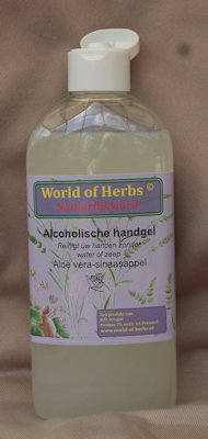 Alcoholische Handgel aloë vera - sinaasappel  250 ml.