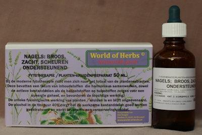 NAGELS: BROOS, ZACHT, SCHEUREN ; ONDERSTEUNEND  50 ml.