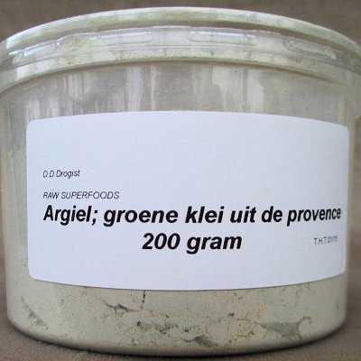Argiel, groene klei uit de Provence AKTIE 50%  100 gram