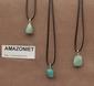 Amazoniet edelsteen (Rusland) kleur groen-blauw-wit 1 Edelsteen