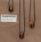 Tijgeroog edelsteen (Zuid Afrika) kleur goudbruin-zwart 1 Edelsteen